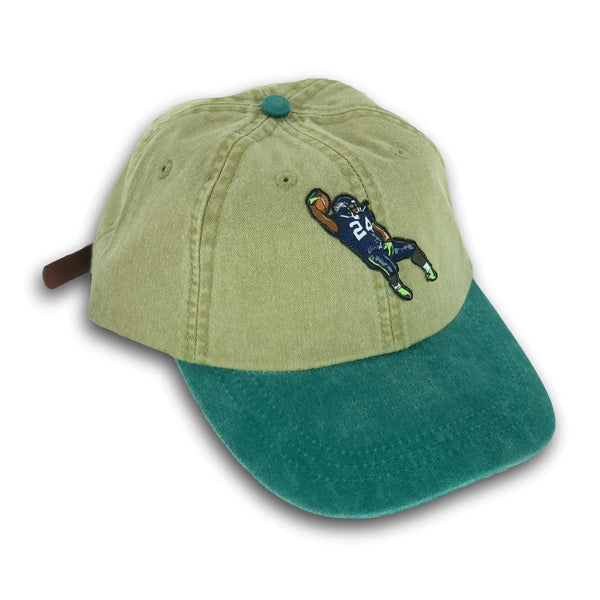 """Beast Mode"" Hat (khaki/dyed green)"