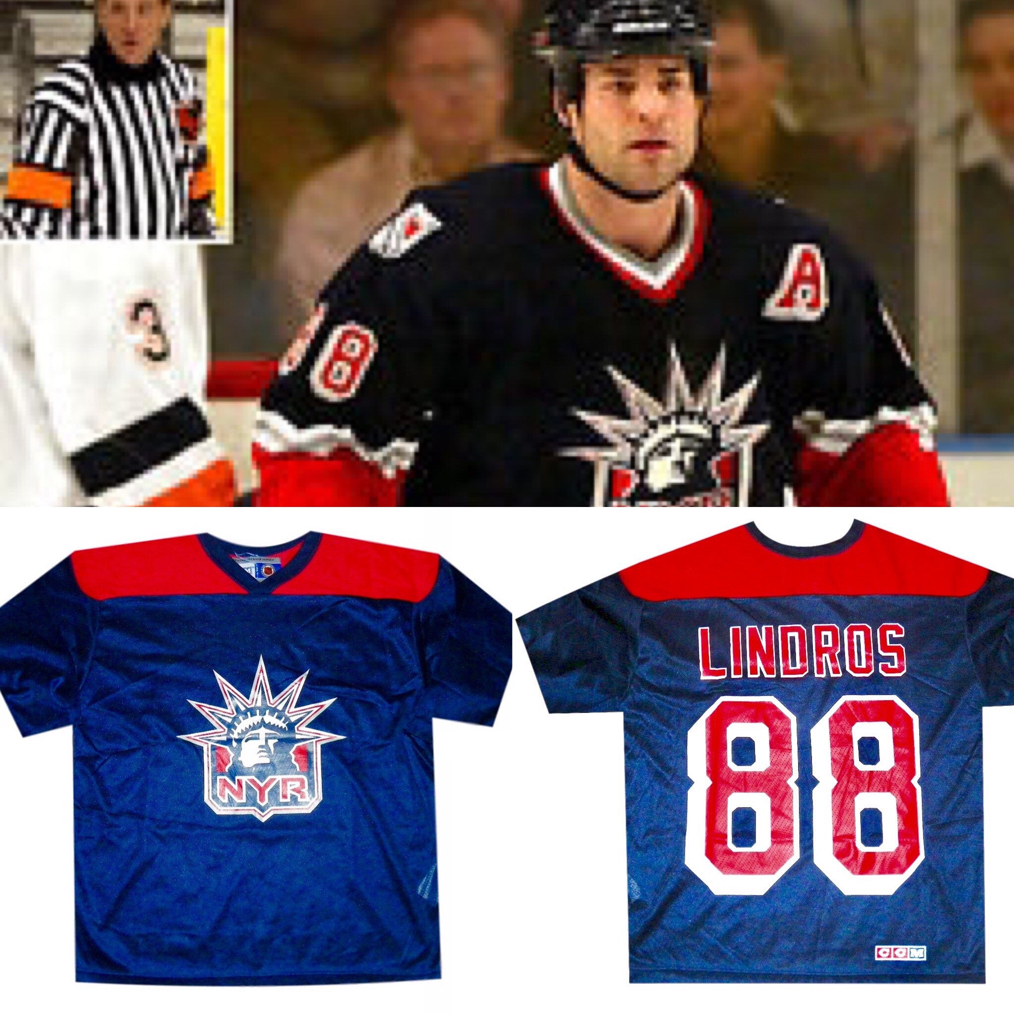 Eric Lindros NYR Practice Jersey