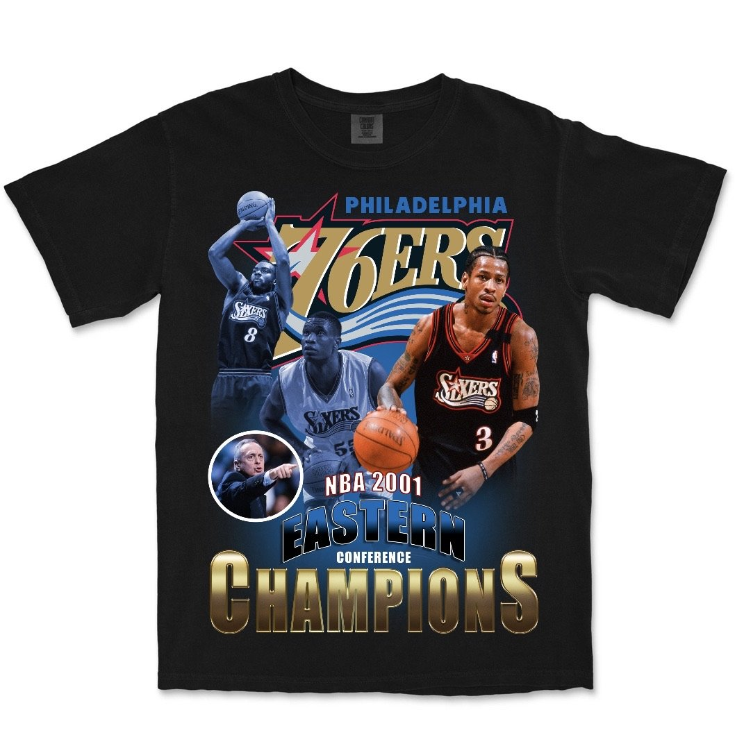 2001 76ers Eastern Conference Champions (black)