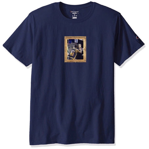 """Protect Ya Neck"" Champion T-Shirt (navy)"