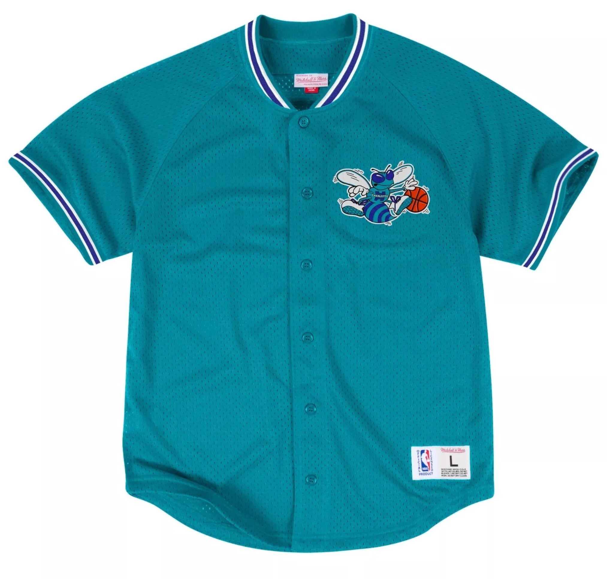 competitive price 2877a 19785 Hornets Mesh Baseball Jersey