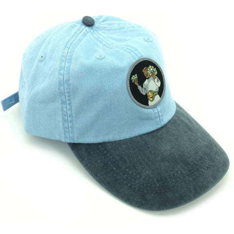 """Money Mike"" Hat (baby blue/navy)"
