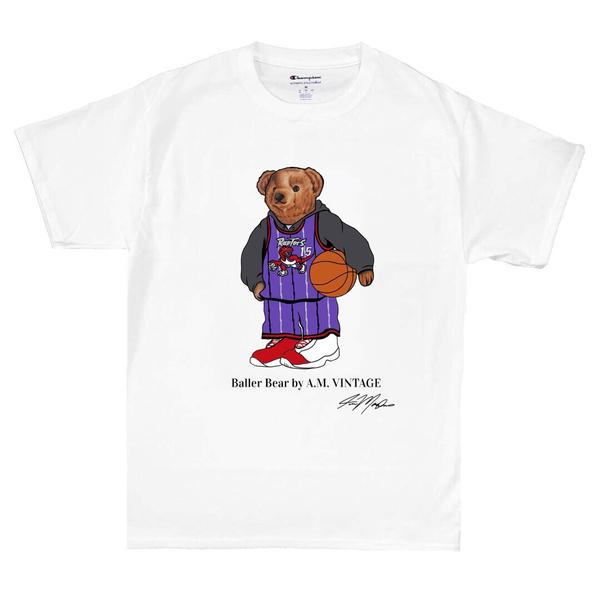 """Baller Bear"" Vince Carter Champion T-Shirt (white)"