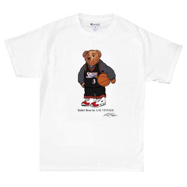"""Baller Bear"" Iverson Champion T-Shirt (white)"