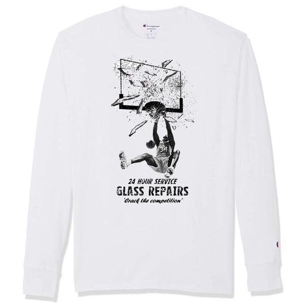 """Glass Repairs"" Champion Long Sleeve (white)"