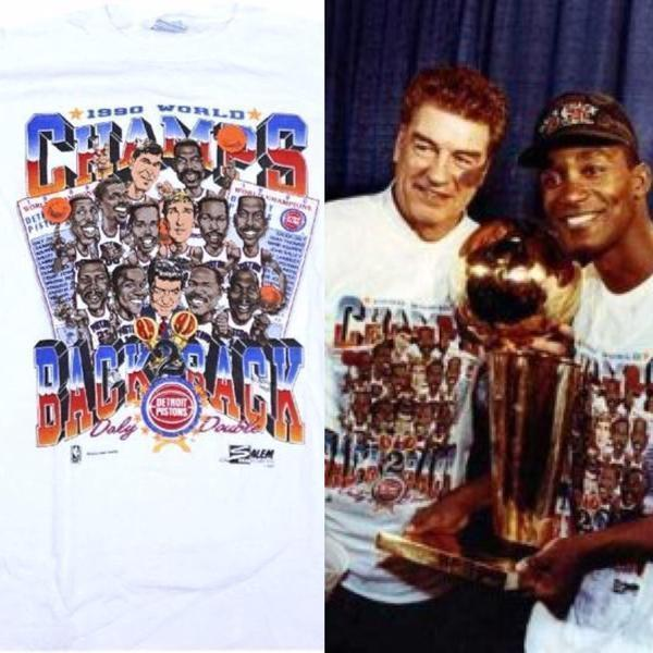 Pistons Vintage Champs Shirt