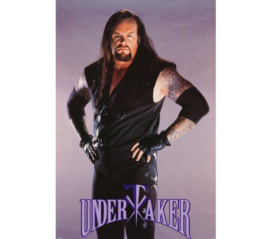 The Undertaker WWF Poster