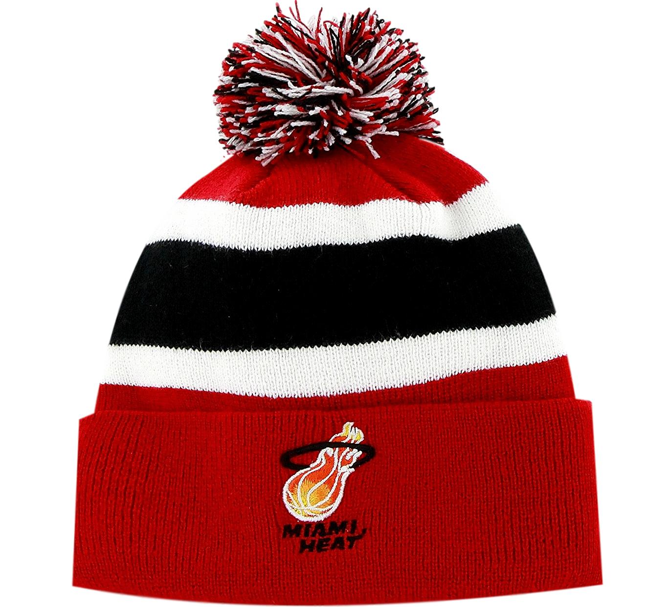 Heat Retro Pom NBA Beanie