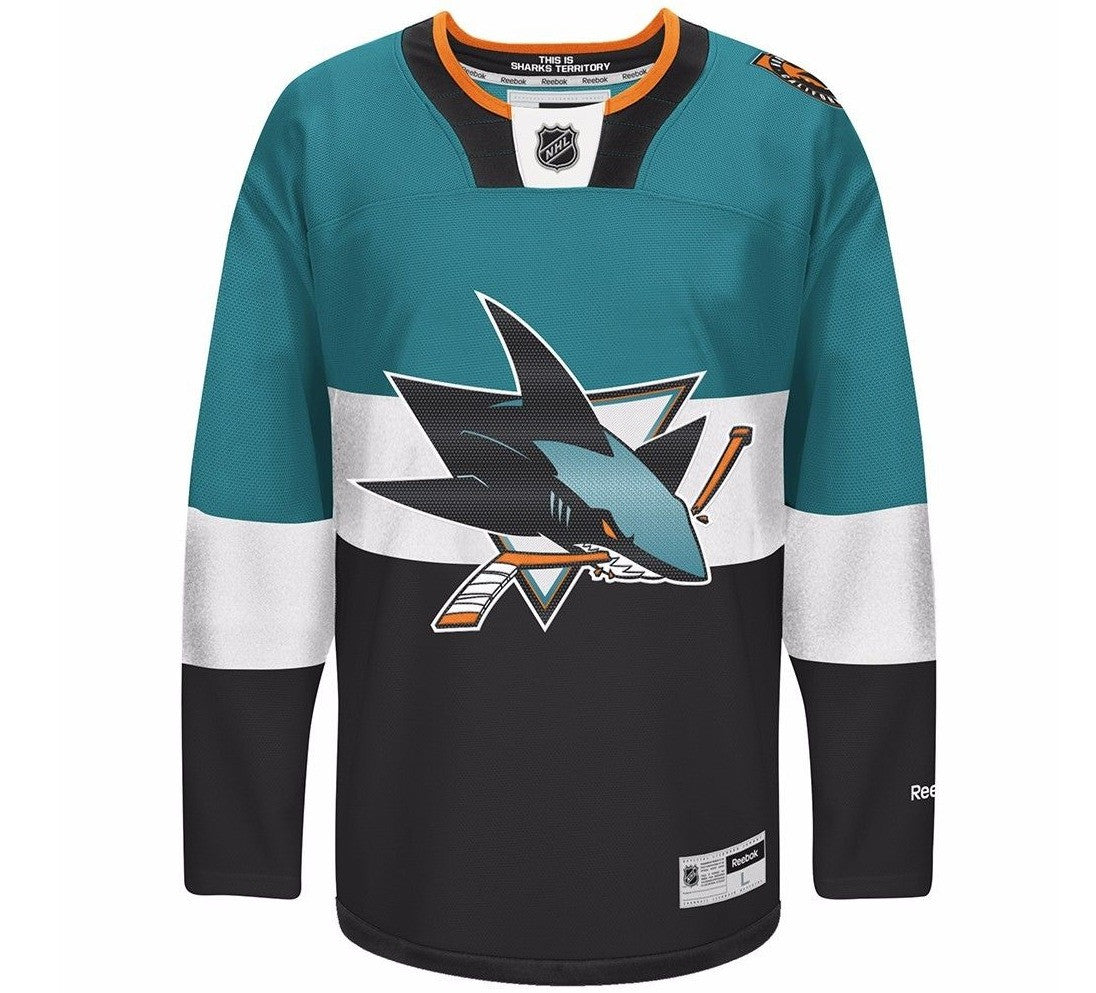0332d9294 Sharks Retro NHL Stitchced Jersey San Jose Throwback NHL Rare