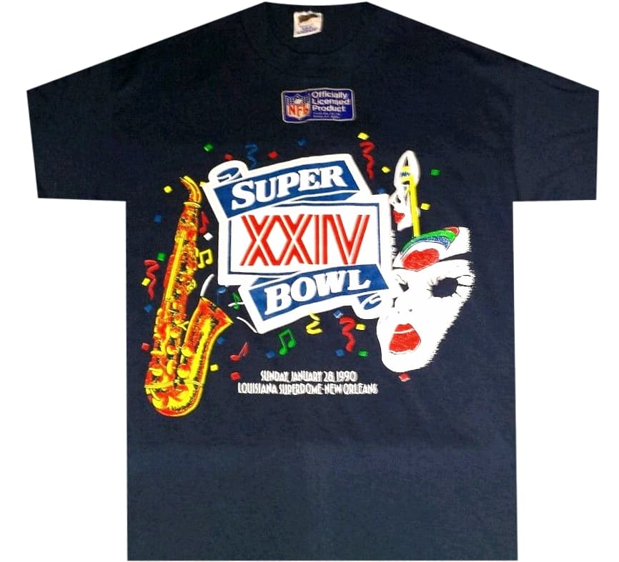 1990 Superbowl Vintage Shirt