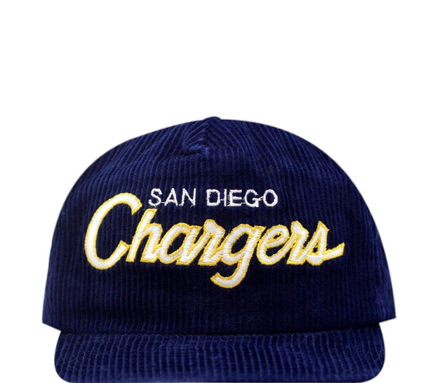 Chargers Vintage Zip Back hat