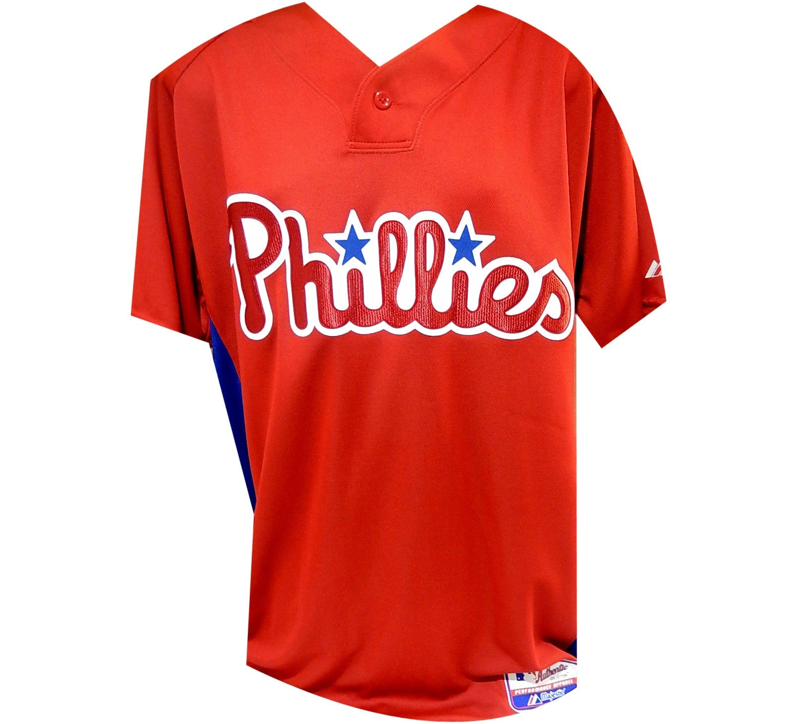 820497e89 Phillies Authentic MLB BP Jersey Philadelphia Throwback Rare World ...