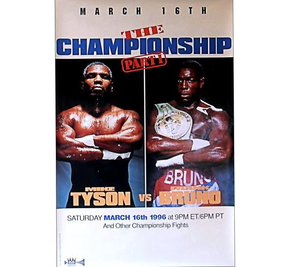 Tyson VS Bruno Fight Poster