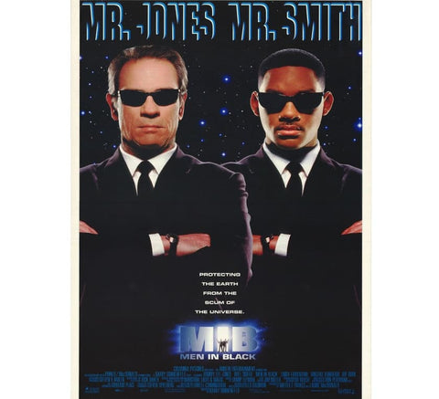 Men In Black Vintage Poster