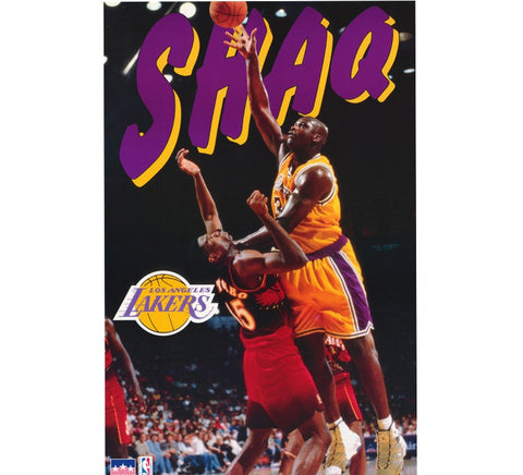 Shaq Vintage 90's Lakers Poster