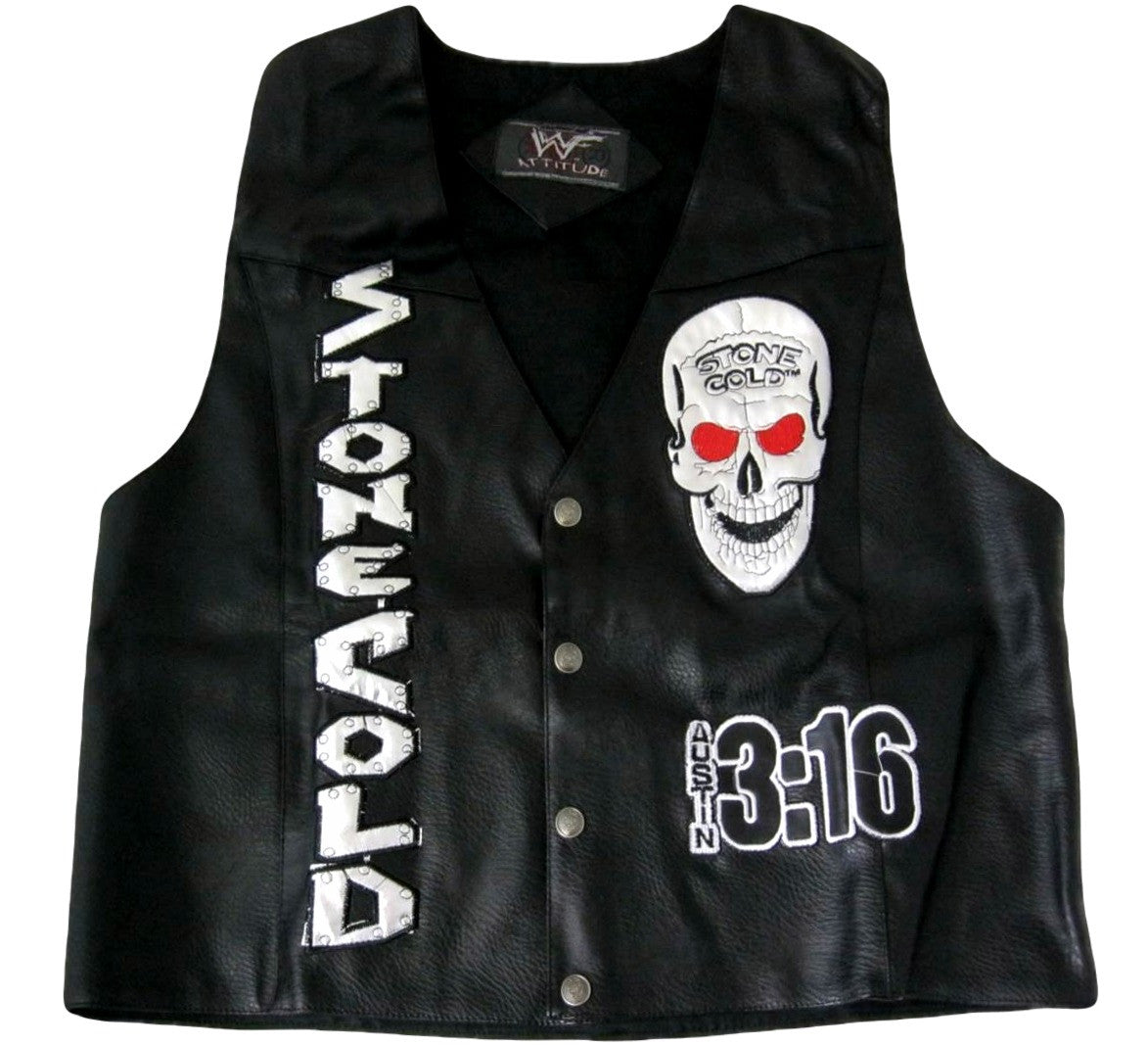 Stone Cold Austin Leather Vest
