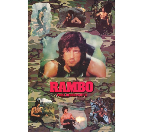 Rambo Part 2 Vintage Poster