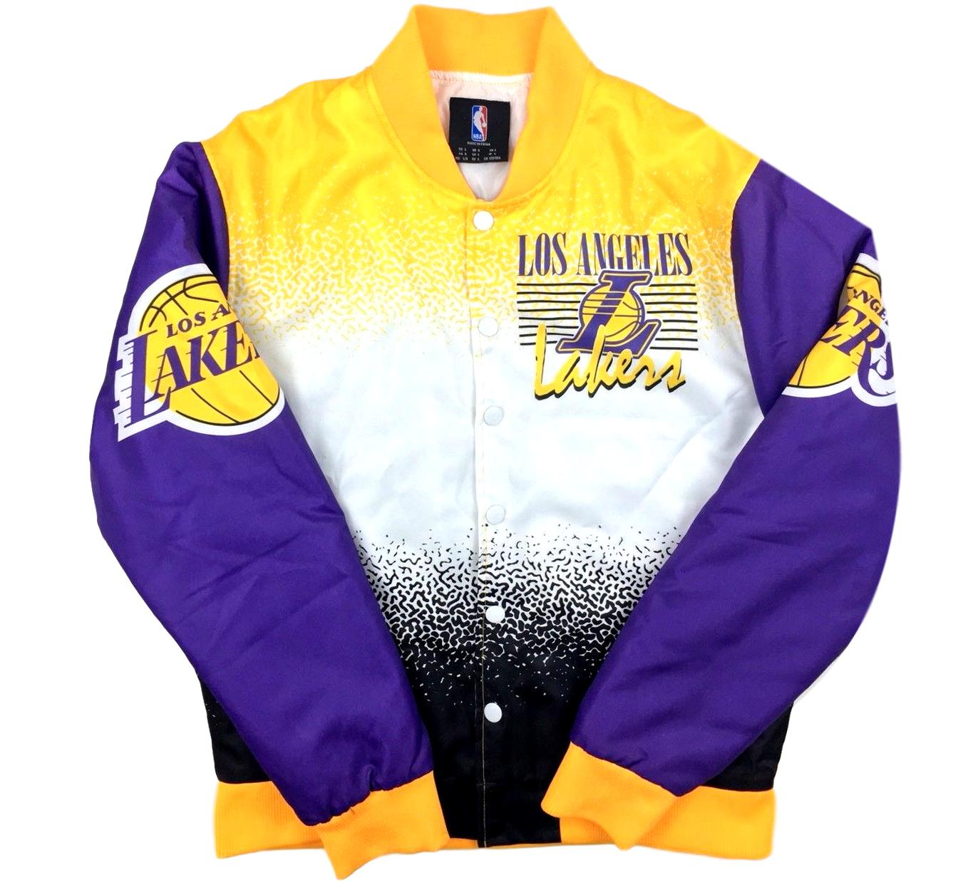 new arrivals 744a4 3269a Lakers Retro Throwback Jacket