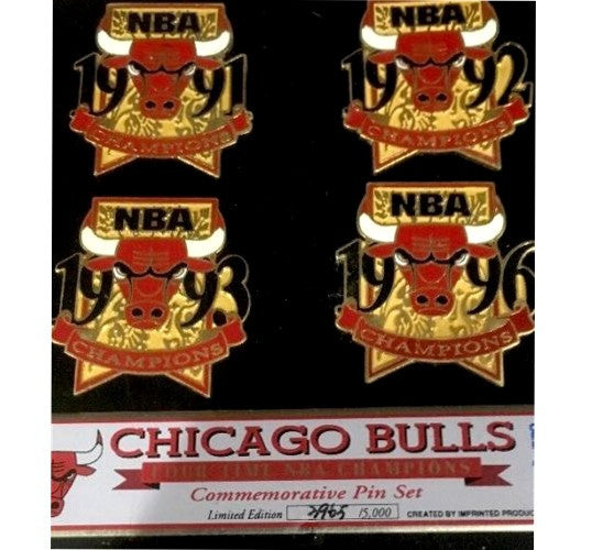 Bulls Vintage 1996 Pin Set (4) - And Still