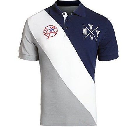 Yankees Retro MLB Polo Shirt 90's Jeter Jersey Button Down World Series