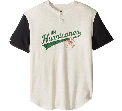 Hurricanes Retro Henley Shirt