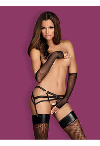 OB Darkie garter belt black