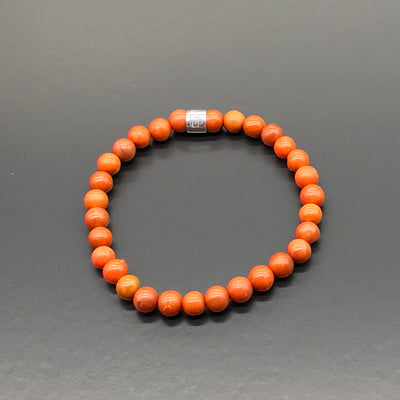 Bracelet made with recycled tennis racquet strings