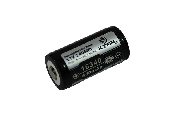XTAR 650mAh 16340 Li-Ion Battery