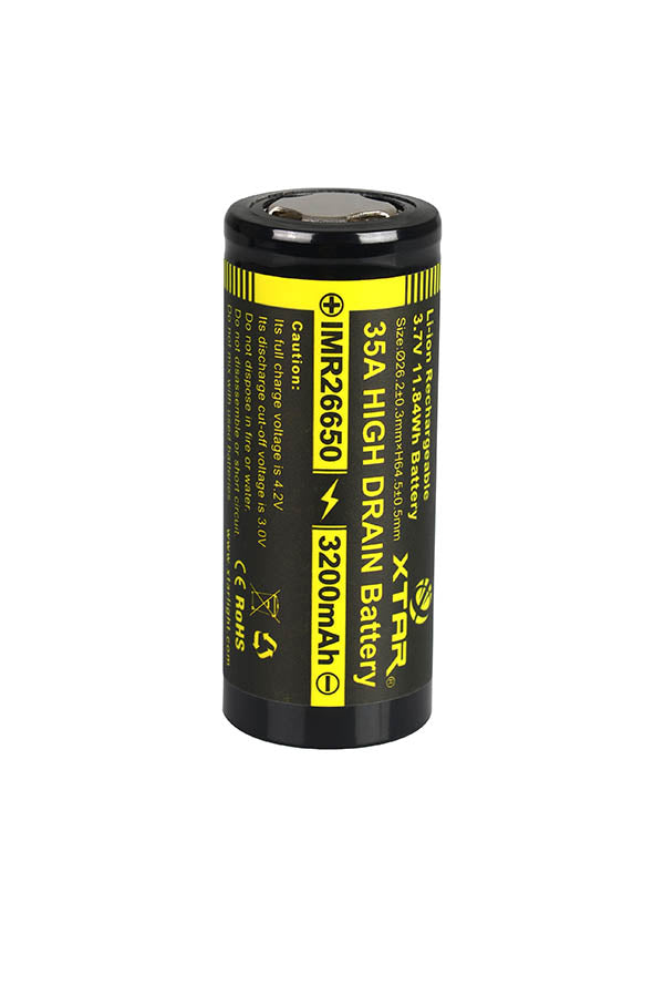 XTAR IMR 3200mAh 26650 Li-Ion Battery