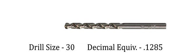 Drill Bit for M2 Threaded Insert - #30