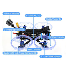 Load image into Gallery viewer, HGLRC Sector132 4K FPV Freestyle Quad (BNF - Crossfire)