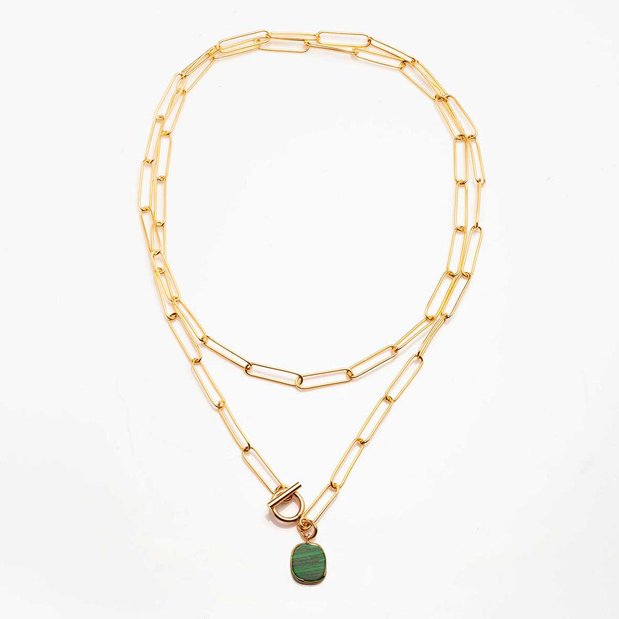 Collier Lutetia Malachite