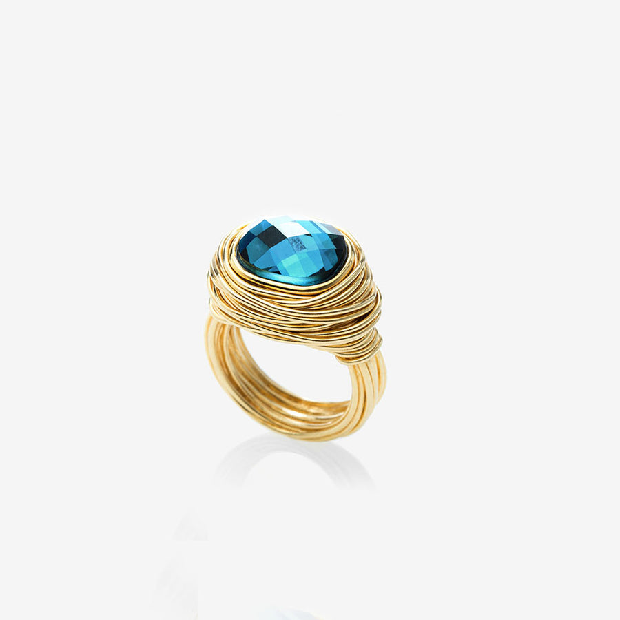 Bague Phèdre Topaze blue London