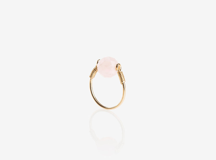 Bague Lunaris Quartz rose