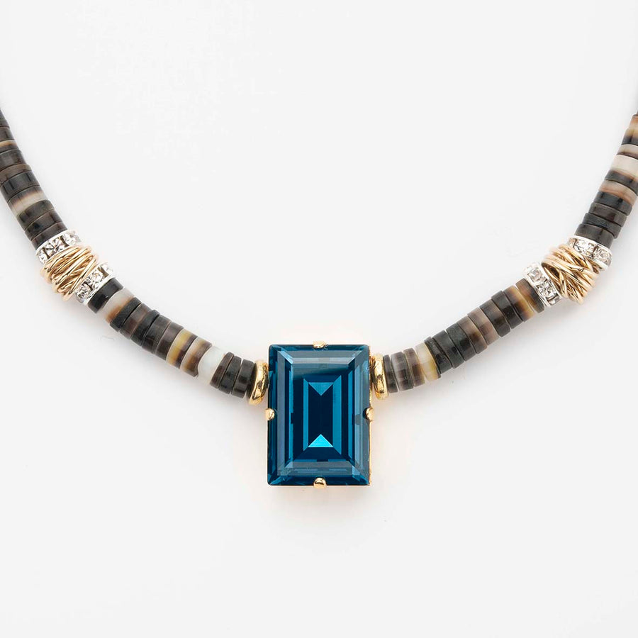 Collier Inca Chic bleu