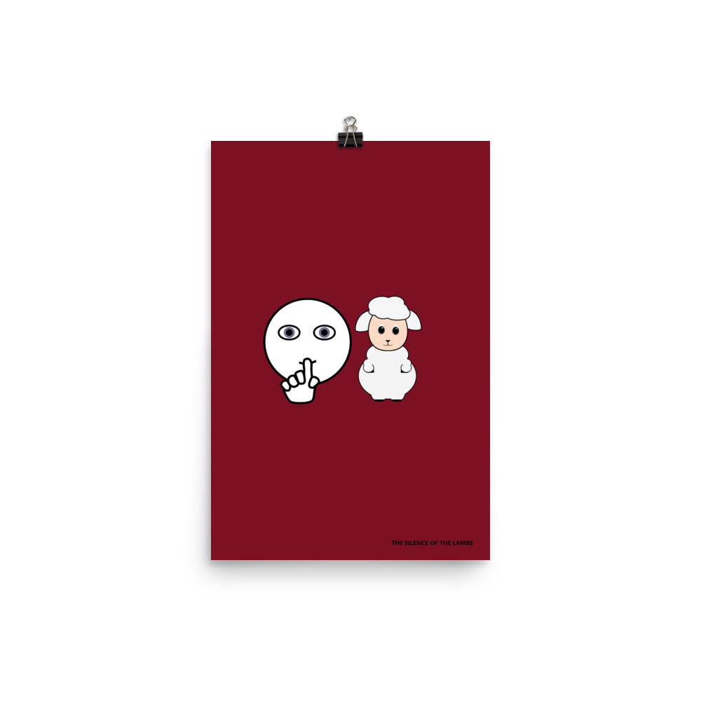 THE SILENCE OF THE LAMBS minimalist pictogram movie Poster
