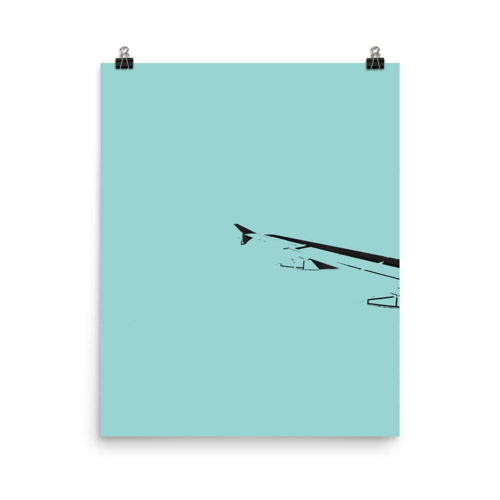 Minimalist Painted Airplane Wing Photograph Poster