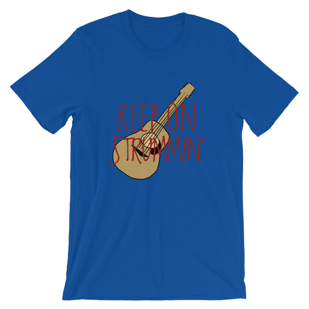 """KEEP ON STRUMMIN"" Guitar drawing Short-Sleeve Unisex T-Shirt"
