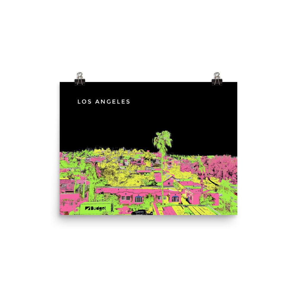 LOS ANGELES Travel Art Poster