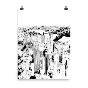 NEW YORK Skyline Black and White Poster