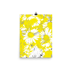 White and Yellow Flowers Poster