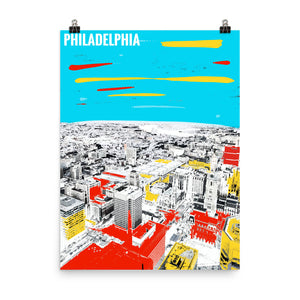 PHILADELPHIA Travel Art Poster