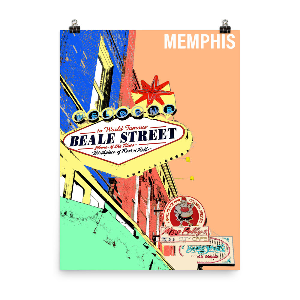 MEMPHIS Travel Art Poster