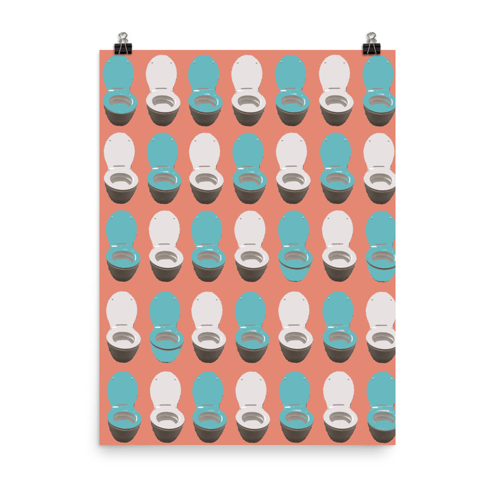 Toilet Repeating Image Pop Art Poster