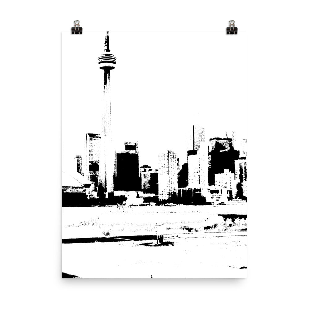 TORNTO Skyline Black and White Poster