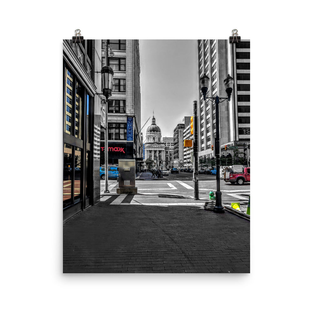 INDIANAPOLIS Downtown Poster