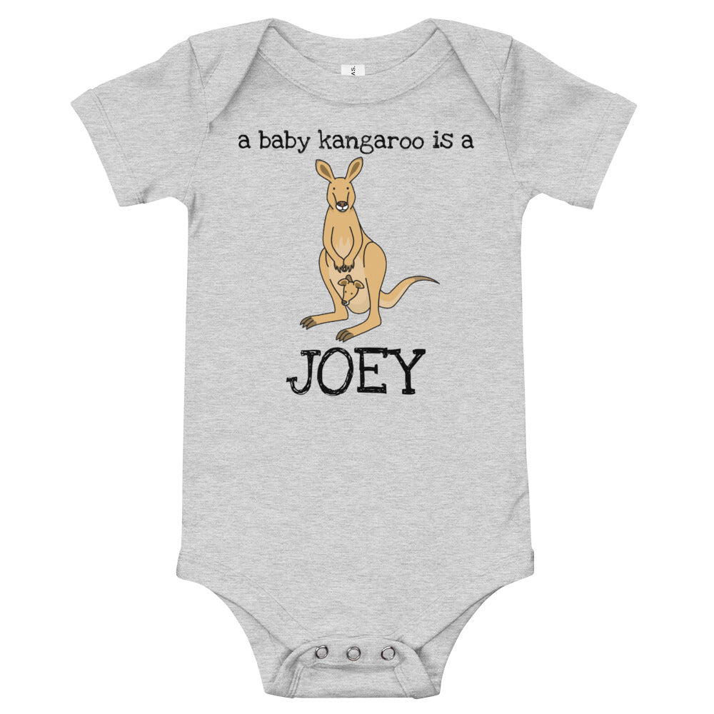 a baby kangaroo is a... JOEY onesie