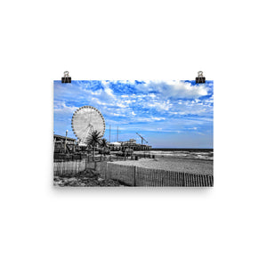 ATLANTIC CITY FERRIS WHEEL Photograph Poster