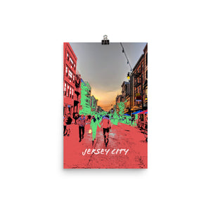 JERSEY CITY Travel Art Poster