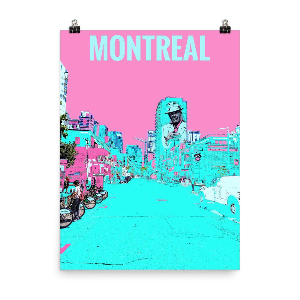 MONTREAL Travel Art Poster
